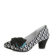Womens Ruby Shoo Samira Black Turquoise Low Heeled Court Shoes  Size