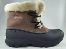 USED Women's ITASCA Beige Suede Leather Insulated Waterproof Winter Snow Boots