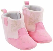 Pink Gold Embroidered Infant Baby Fashion Winter Cowgirl Boots