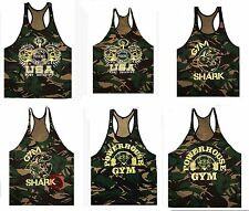 Fitness Bodybuilding Camouflage Tank Top Workout Shirts Stringer Muscle Vest Gym
