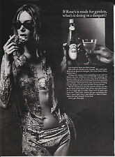 Original Print Ad-1966 What is ROSE'S LIME JUICE doing in a daquiri? Wet Girl
