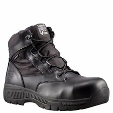 "TIMBERLAND PRO Men's 1161A001 6"" Valor Black Nylon Soft Toe Work Boots"