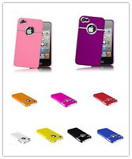 New Stylish Chrome Series Hard Case Cover for iPhone 4 4s Free Screen Protector