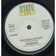 """SUNSHINE (LATE 70'S GROUP) Too Much In Love 7"""" VINYL UK State 1978 B/W Hello"""