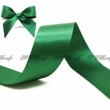 Forest Green Double Sided Satin Ribbon 3mm 6mm 10mm 16mm 22mm 28mm 50mm
