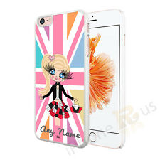 UNION JACK GIRL PERSONALISED ANY NAME PHONE CASE COVER FOR VARIOUS MOBILE PHONES