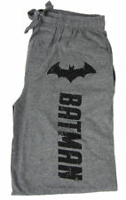 Mens Womens Batman Distressed Lettering Gray Pajama Lounge Pant New With Defect