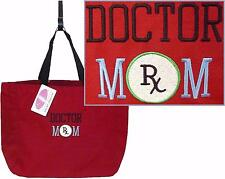 Doctor Mom Custom Embroidered Tote Bag + Free Name Essential Tote Bag NWT