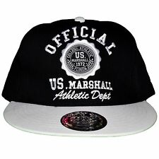 US MARSHALL - SNAPBACK CAP - ADJUSTABLE SIZE - BLACK WHITE NEW