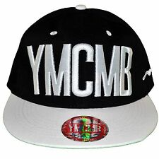 YMCMB - SNAPBACK CAP - ADJUSTABLE SIZE - BLACK WHITE WHITE NEW