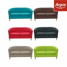 ColourMatch Tub Sofa Settee Black/Red/Brown/Blue/Green - Width Choice-From Argos