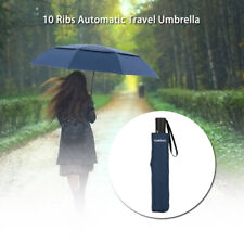 TOMSHOO Unisex Auto Open/Close Umbrella  Large Vented Double Canopy Windproof
