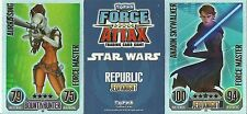 TOPPS FORCE ATTAX STAR WARS FORCE MASTER CARDS SERIES 1 PICK YOUR OWN