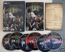Lord Of The Rings Battle For Middle-Earth II 2 (PC CD) Complete 6 discs book key