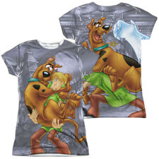 Scooby Doo Scooby And Shaggy Front And Back Sublimation Junior T Shirt