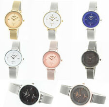 Ladies NY London Round Dress Watch Mesh Strap Fashion Designer Style Rose Gold