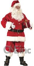 Retro! Crimson VELVET PROFESSIONAL rental parade quality Santa Claus button Suit