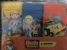 NEW 3 PACK OF BOYS BOB THE BUILDER 100% COTTON BRIEFS AGE 2-3,3-4 YEARS