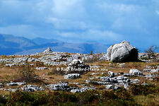 Cumbrian Fells Boulders Photograph Mounted Print 10 mount colors Greetings Cards