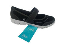 Ladies Shoes Grosby Gemma Black/White Mary Jane Comfort Work Shoe Size 5-10