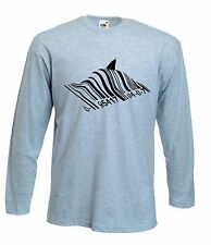 BANKSY BARCODE SHARK LONG SLEEVE T-SHIRT - Choice Of Colours - Sizes S to XXL