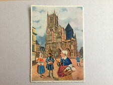 FRANCE MEAUX LA CATHEDRALE ST ETIENNE GOTHIQUE STYLE BY CHARLES HOMUALK POSTCARD