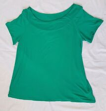 Ladies Ex Store Evans Green Short Sleeve Top Size 20, 22-24,26-28  B72