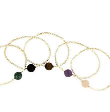 Bracelet 925 Silber with Gemstone Amethyst, Rose quartz, Onyx or Tiger eye