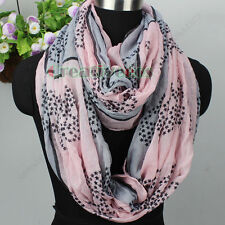 Stars Skull Viscose Soft Long Scarf/ Infinity Loop Cowl Casual Voile Scarf New