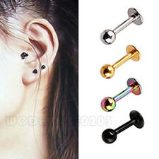 2PC Surgical Steel Tragus Ear stud 4 Color Preventing allergy EH0142
