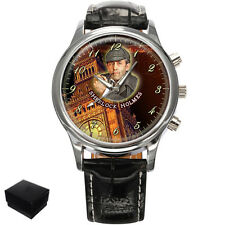 SHERLOCK HOLMES DETECTIVE GENTS MENS WRIST WATCH  GIFT ENGRAVING