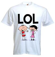 LOL T-SHIRT - Laugh Out Loud Funny Text Language Facebook Twitter - Sizes S-XXXL