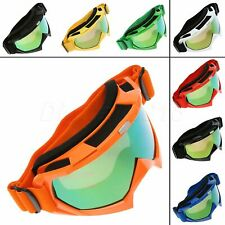 Colorful Lens Snowboard Goggles Eyewear Motorcycle Motocross Off-Road Glasses