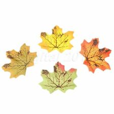 Artifical Maple Leaves Fake Fall Leaf Wedding Party Art Home Wall Decor 100Pcs
