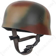 WW2 German Fallschirmjager Helmet Normandy Camo - Repro Paratrooper Steel Army