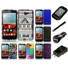 For Alcatel One Touch Fierce 2 7040T Design Rubberized Hard Case Charger Stylus