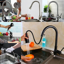 Luxury Flexible Faucet Mixer Tap Brass Swivel Pull Out Spray Kitchen Sink Basin