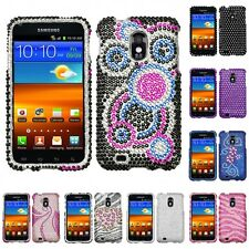 For Samsung Epic Touch 4G D710 Diamond Diamante Bling Rhinestone Case Cover