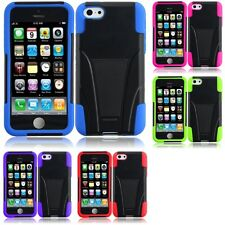 For Apple iPhone 5C Hard Stand Soft Silicone Skin Case 2-Piece Cover
