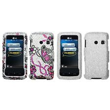 For LG Rumor Touch LN510 Diamond Diamante Bling Rhinestone Case Cover