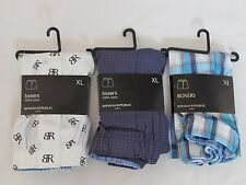 LOT OF 3 NEW WITH TAGS PAIRS OF MEN'S BANANA REPUBLIC BOXER SHORTS, SIZE X-LARGE