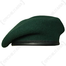 100% Wool BRITISH BERET - All Sizes - Army RIFLES GREEN High Quality British Cap