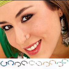 2pcs/Set Jewelry Stainless Steel Nose Open Hoop Ring Earring Body Piercing Studs