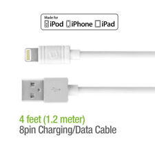 Apple MFI Certified Lightning Cable 4 Ft 8 Pin USB Charging Data Sync Cord White