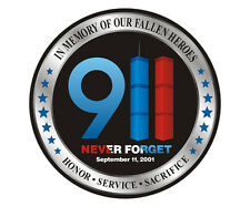 Fallen Heroes Decal WTC Never Forget 9/11 Firefighter Gloss Vinyl Sticker HGV