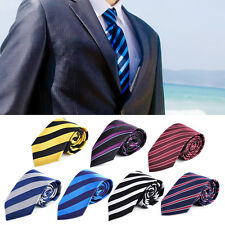 Striped Polyester Tie Men Necktie Classic Neck Tie Business Formal Party Fashion