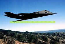 USAF  F-117A Nighthawk Stealth Fighter Photo Military Color F 117