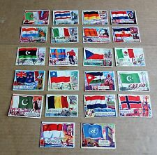 MULTI-LIST OF SINGLE A&BC 1960 FLAGS OF THE WORLD GUM CARDS #51 - #80  FREE P/P