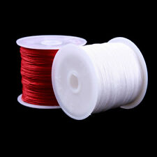 1 Roll 0.8MM 45M Nylon Cord Thread Chinese Knot Macrame Braided Cord Hot Sale