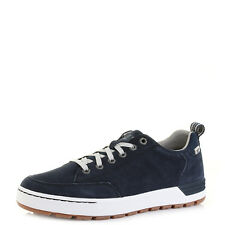 Mens Caterpillar Evasion Navy Suede Leather Casual Trainers Shoes Size